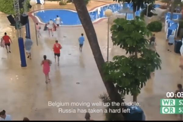 Επικό βίντεο: Τρέχουν για να προλάβουν μια... ξαπλώστρα δίπλα στην πισίνα!