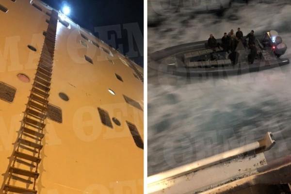 Φωτογραφίες - ντοκουμέντο:Tο ρεσάλτο των βατραχανθρώπων στο φλεγόμενο πλοίο «Ελευθέριος Βενιζέλος»!