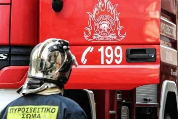 Φωτιά σε βιομηχανία στην περιοχή Σπαθοβούνι Κορινθίας
