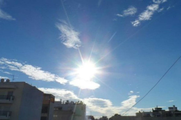 Καλοκαιρινός ο καιρός σήμερα! Στους πόσους βαθμούς θα φτάσει η θερμοκρασία;