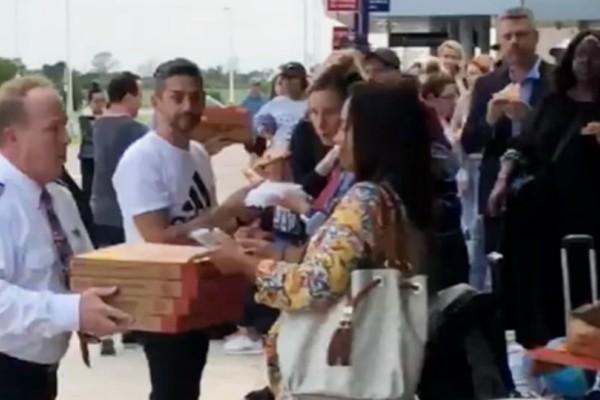 Απίστευτο: Πιλότος κέρασε...πίτσες τους ταλαιπωρημένους επιβάτες (video)