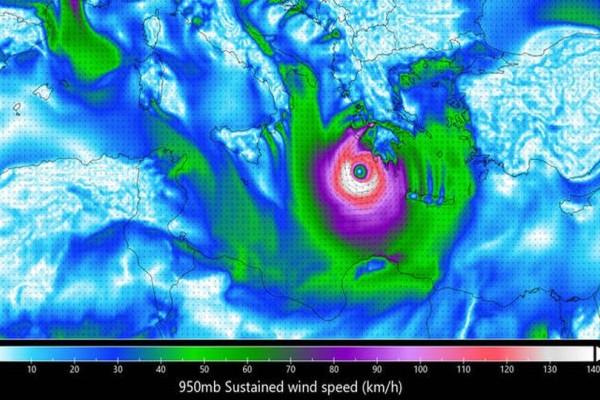 Τρόμο προκαλεί η πρόβλεψη του Αστεροσκοπείου για τον κυκλώνα! Ποιες περιοχές της Ελλάδας θα