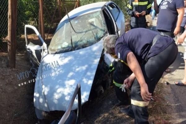 Άργος: Σοβαρό τροχαίο με δύο τραυματίες!