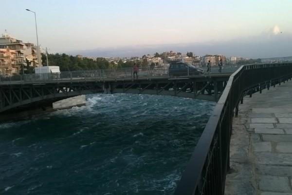 Απίστευτο περιστατικό στη Χαλκίδα: Τύπος φόρεσε το μαγιό του και έκανε βουτιά στην παλιά γέφυρα! (photos)