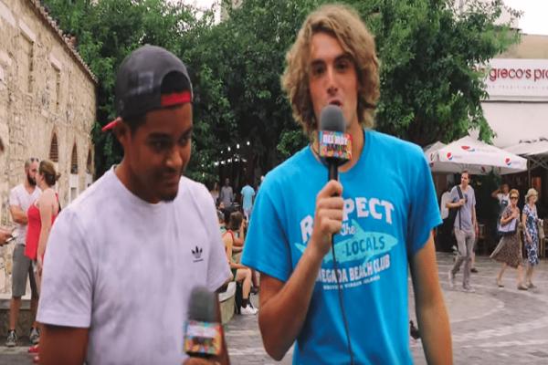 Tσιτσιπάς-Καραλής «ψαρώνουν» τον κόσμο στο Μοναστηράκι! (video)