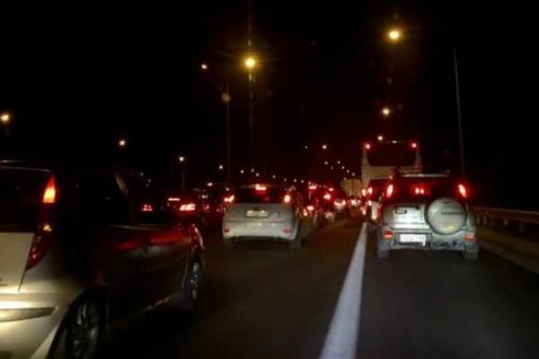 Διακόπηκε η κυκλοφορία στην Πατρών-Κορίνθου!