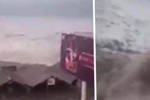 Συγκλονιστικές εικόνες από το τσουνάμι που