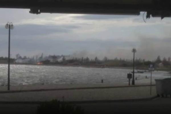 Πυρκαγιά στο Κρυονέρι Ναυπακτίας - Κοντά σε κατοικημένη περιοχή (photos+video)