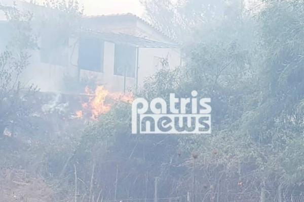 Πύργος: Υπό έλεγχο η φωτιά στη Σπιάτζα!