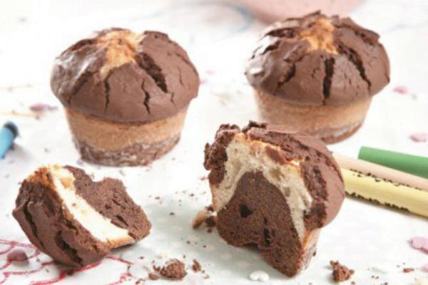 Muffins με δύο σοκολάτες!