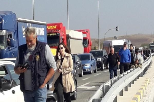 Χάος στη Λάρισα: Κλειστή η Εθνική οδός!