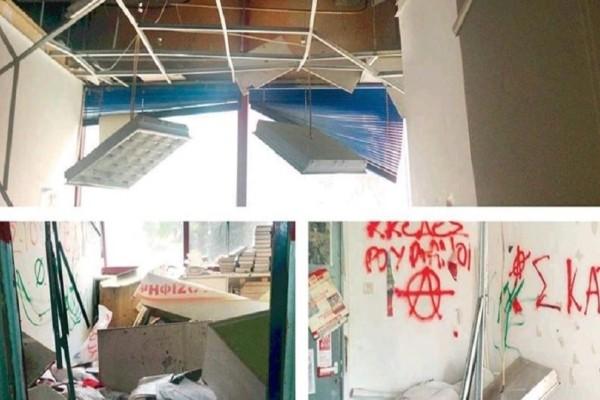 Κουκουλοφόροι έκαναν γυαλιά καρφιά το Πάντειο! - Εκτεταμένες καταστροφές στον χώρο φοιτητικής παράταξης!