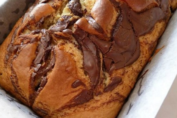 Κέικ βανίλιας με Nutella