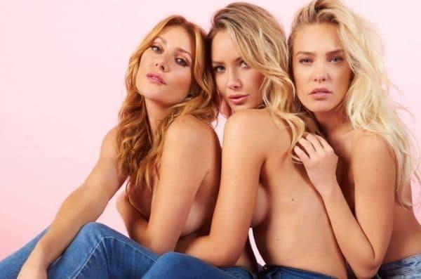 Τρία κορίτσια του Playboy φωτογραφίζονται κατά του «Καρκίνου του Μαστού»!