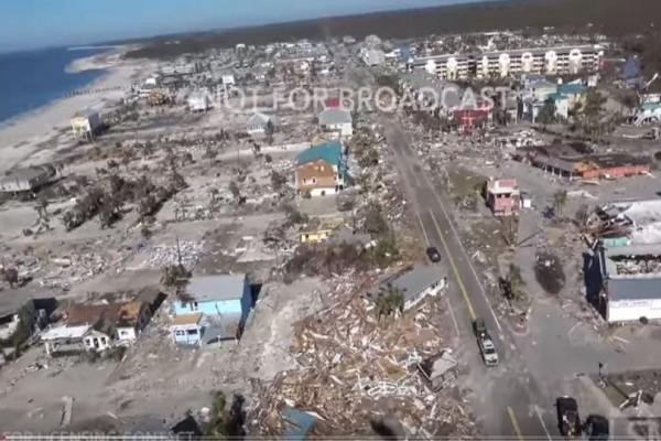 Φλόριντα: Εικόνα απόλυτης καταστροφής μετά το πέρασμα του τυφώνα Michael! (Video)