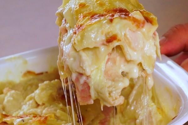 Λαζάνια με τυρί κρέμα, πιπεριές και ντομάτα! (Video)