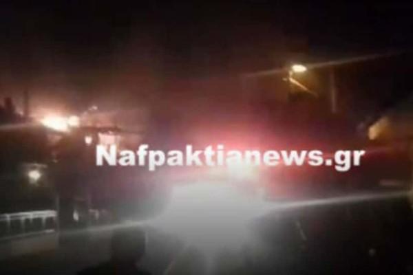 Ναυπακτία: Σπίτι κάηκε ολοσχερώς στη Δάφνη! (video)