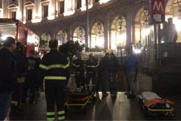 Ρώμη: Σοβαρό ατύχημα στο μετρό με δέκα τραυματίες - Ποδοπατήθηκαν οπαδοί της ΤΣΣΚΑ