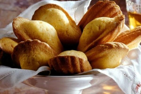 """Κεκάκια """"madeleines"""" βανίλια"""