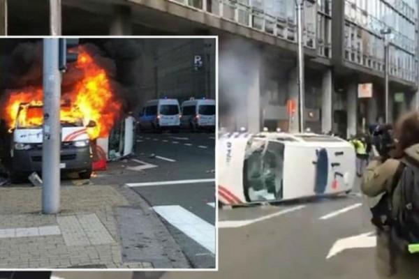 Επεισόδια στις Βρυξέλλες σε διαδήλωση των