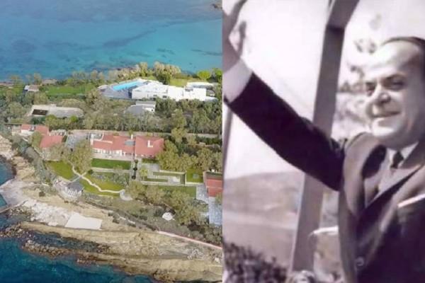 Η βίλα-φρούριο του Γεώργιου Παπαδόπουλου στο Λαγονήσι από ψηλά
