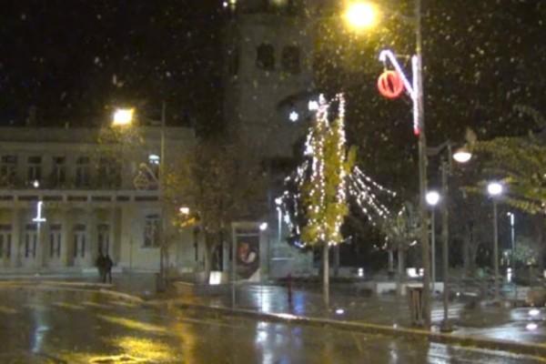 Κοζάνη: Μοναδικές εικόνες! Το πρώτο χιόνι του φετινού χειμώνα (video)