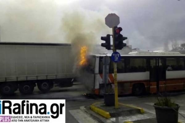 Πικέρμι: Λεωφορείο του ΚΤΕΛ τυλίχτηκε στις φλόγες! (video)