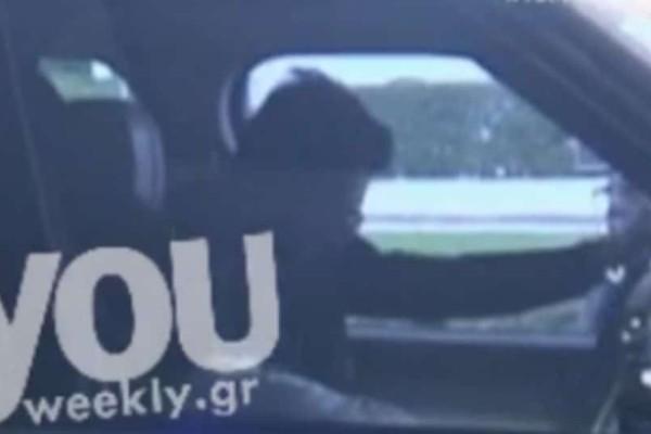 Nomads: Τα καυτά φιλιά της Δήμητρας Αλεξανδράκη με τον σύντροφό της έξω από το αεροδρόμιο! (video)