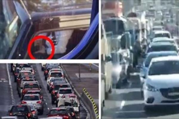 Τύπος κόλλησε στην κίνηση και άρχισε να αυνανίζεται μέσα στο αυτοκίνητο! (photos)