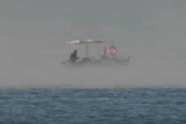 Εντυπωσιακό φαινόμενο στο Ναύπλιο: Χάθηκε ο ψαράς στον ορίζοντα! (video)