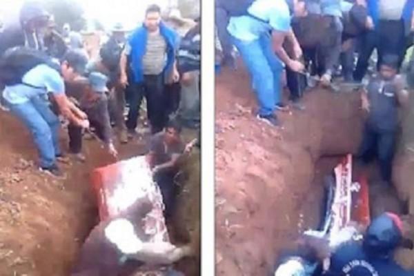 Έκανε την κηδεία μπάχαλο: Παραπάτησε έπεσε στον τάφο και αυτό που έγινε ξεπερνά κάθε φαντασία!