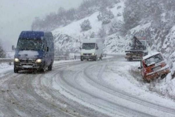 Η κακοκαιρία χτύπησε την Πελοπόννησο! - Προβλήματα στην κυκλοφορία των οχημάτων λόγω της χιονόπτωσης!