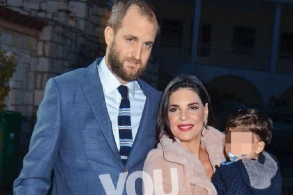 Μαρίνα Ασλάνογλου - Δημοσθένης Πέππας: Βάφτισαν τον γιο τους! (Photos)
