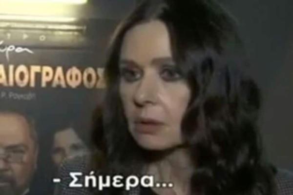 Τραγωδία για την Κάτια Δανδουλάκη: Της ανακοινώθηκε ο θάνατος στον αέρα! (video)