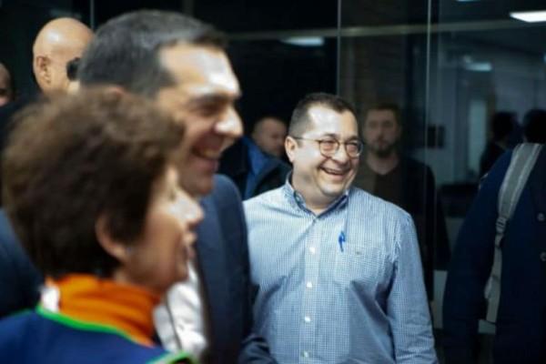 Ο Αλέξης Τσίπρας στις εγκαταστάσεις του Open Tv!