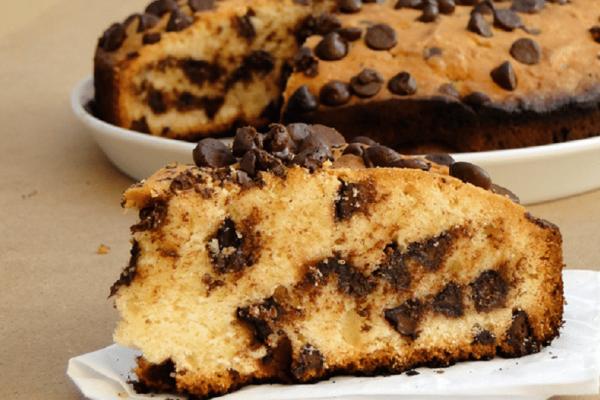 Κέικ βανίλιας με σταγόνες σοκολάτας!