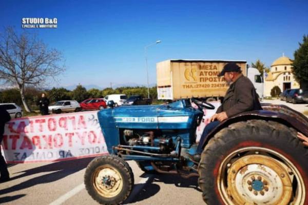 Αργολίδα: Αγρότες έκλεισαν τη νέα εθνική Ναυπλίου-Μυκηνών!