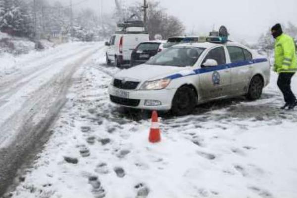 Κακοκαιρία: Η Αστυνομία διέκοψε την κυκλοφορία στην λεωφόρο Πάρνηθας!