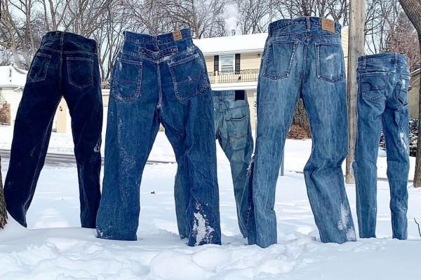 Απίστευτες εικόνες από τους -50 των ΗΠΑ: Τα ρούχα μετατρέπονται σε παγοκολόνες!