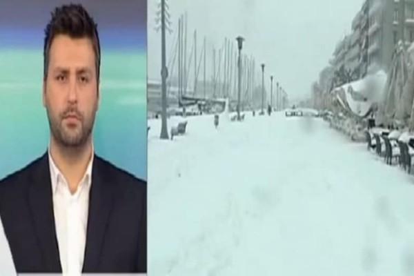 Ο Γιάννης Καλλιάνος προειδοποιεί: Χιονιάς από το απόγευμα! Θα το στρώσει και στην Αττική!