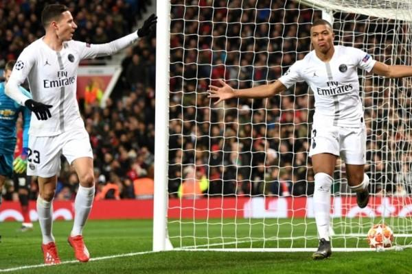 Champions League: Μάντσεστερ Γιουνάιτεντ - Παρί Σεν Ζερμέν 0-2