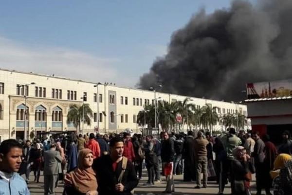 Κάιρο: Πυρκαγιά σημειώθηκε σε σιδηροδρομικό σταθμό με 24 νεκρούς!