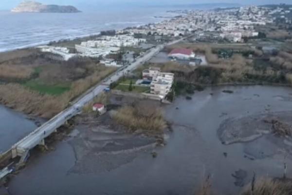 Το drone της απόλυτης καταστροφής! - Εικόνες αποκάλυψης στην Κρήτη μετά την κακοκαιρία! (video)