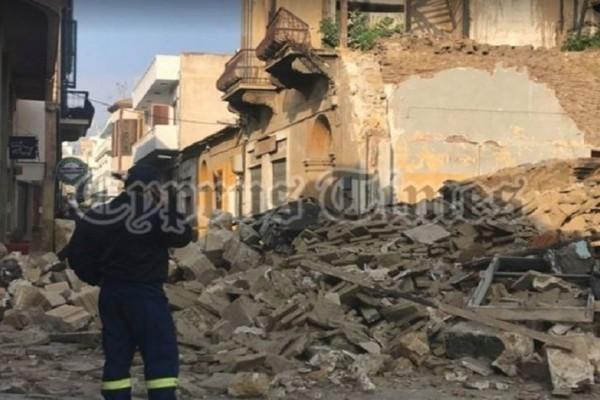 Κατέρρευσε κτίριο στη Λευκωσία - Ερευνες για τυχόν εγκλωβισμένους