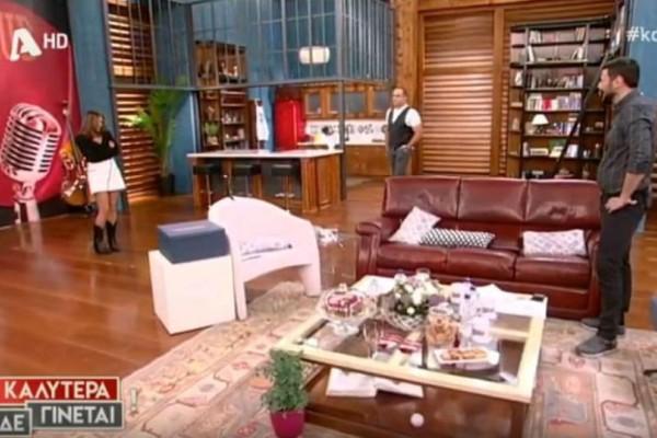 Κρατερός Κατσούλης: Δεν φαντάζεστε πώς εμφανίστηκε στην εκπομπή της Ναταλίας Γερμανού! (video)