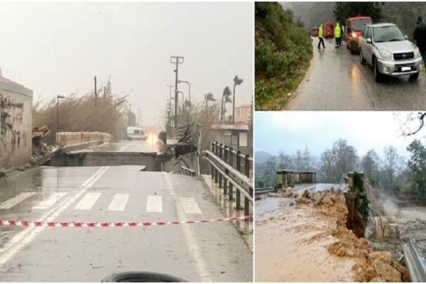 Βιβλική καταστροφή! Εικόνες Αποκάλυψης από τη θεομηνία στην Κρήτη -Αγωνία για τον αγνοούμενο