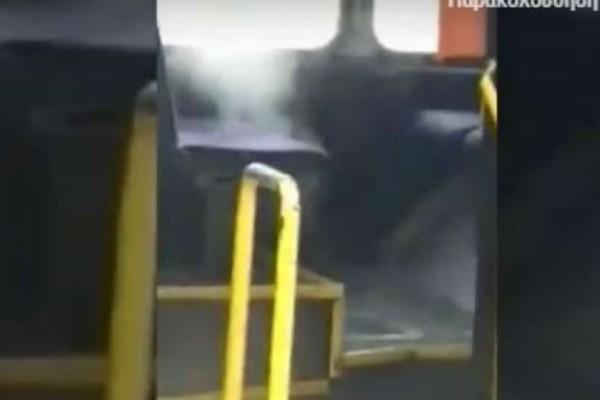 Λεωφορείο του ΟΑΣΘ βγάζει...ατμούς από το κάθισμα! (video)