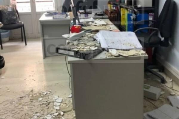 Σοκ στην Κέρκυρα: Ταβάνι έπεσε στο κεφάλι εργαζόμενης!
