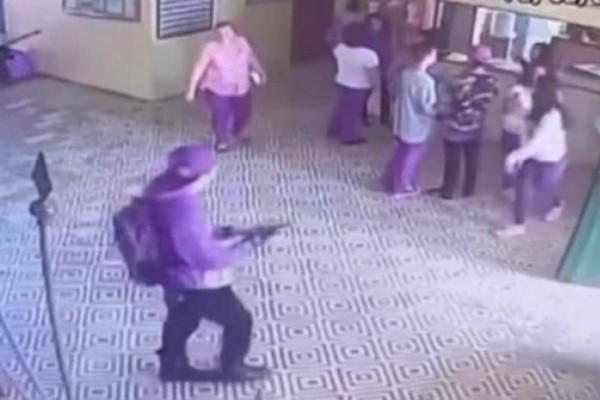 Βίντεο - ντοκουμέντο από το μακελειό στη Βραζιλία: 17χρονος ανοίγει πυρ!