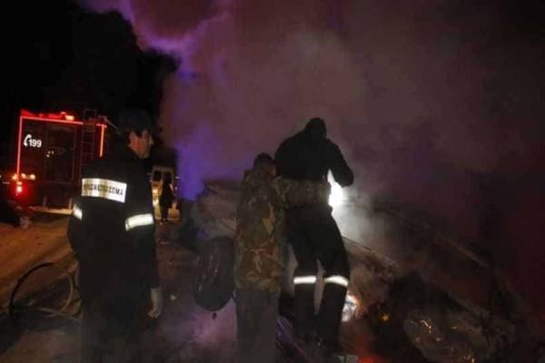 Τροχαίο στην Κηφισίας: Πήρε φωτιά το όχημα, τραυματίας ο οδηγός!